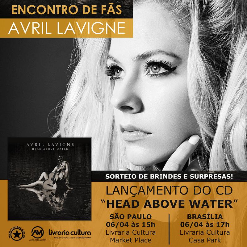 Vem com a gente! Lançamento do álbum Head Above Water no Brasil